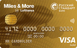 Кредитная карта Русский Стандарт Miles & More Visa Gold